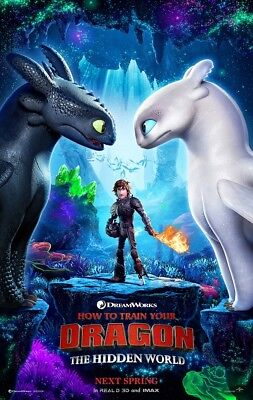 "How to Train Your Dragon 3 The Hidden World Movie Poster 24x36 27x40"" Film Print"