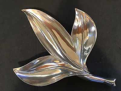 bruce fox vintage royal century mid aluminum serving leaf tray hickman bowl mod dish lobster cast