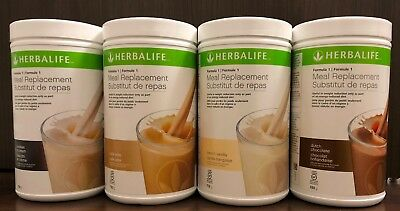 4 Pcs. - Herbalife Formula 1 Meal Replacement Shake Mix 750g - 8 Flovours