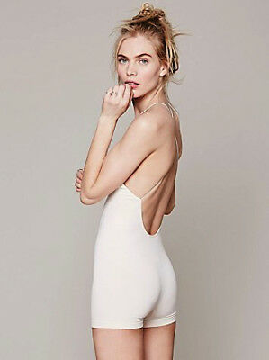 NEW Free People Intimately Low Back Seamless Romper Ivory Sz XS/S-M/L $54.11
