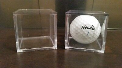 ~(1) Golf Ball Stackable Clear Display Square Cube Acrylic Holder Free Shipping