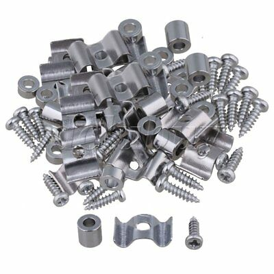 100PCS Zinc Alloy String Tree Guide Retainer Chrome Finish with Screws