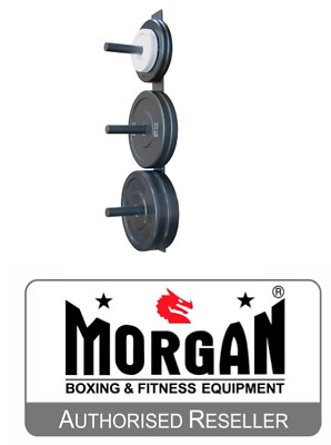 Morgan Bumper Plate Storage Rack Wall Mount Holder Olympic New Weight Lifting
