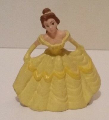 Disney Applause Belle In Yellow Ball Gown Beauty & The Beast Pvc Figure Cake Top