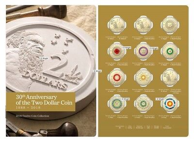 Australia: 2018 $2 Coin 30th Anniversary 12 x Different $2 Designs Mint Pack