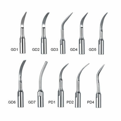 10 Type Scaling Tip Dental Ultrasonic Perio Scaler DTE/SATELEC GD/PD Handpiece