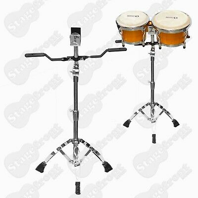 Heavy Duty Double Braced Short Bongo Stand With Support Arms. Height Adjustable