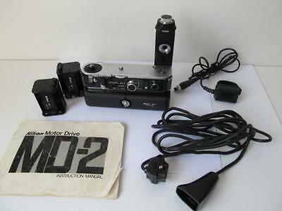 Nikon MD-2 Motor Drive & MB-1 Battery Pack w/2x MS-1 Holders   ****