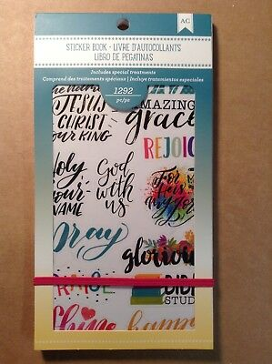 """NEW! American Crafts """"FAITH"""" Sticker Book - 1292 Pieces"""