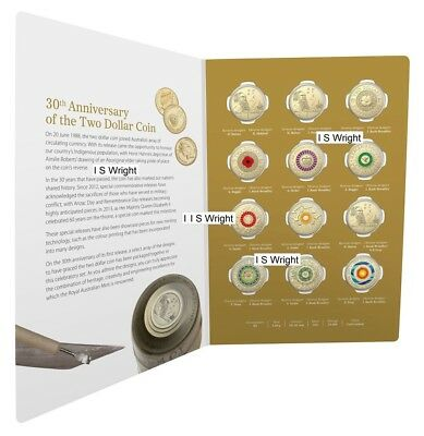 Australia: 2018 $2 Coin 30th Anniversary 12 x Different $2 Designs RAM Set