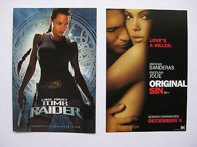 LARA CROFT TOMB RAIDER, ORIGINAL SIN Australian movie postcards Angelina Jolie