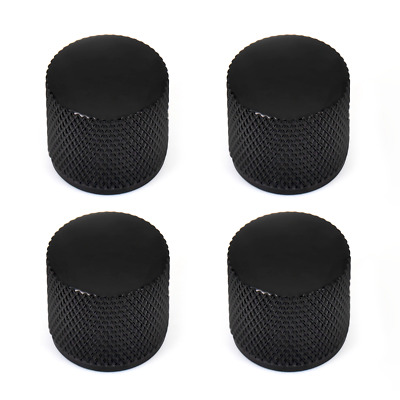 4 Pcs Black Metal Dome Tone Volume Knob For Electric Bass Guitar Dome 6mm Knobs