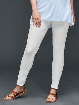 Gap Maternity NWT White Denim Authentic True Skinny Full Panel Jeans 10 $70