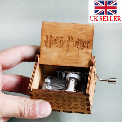 Harry Potter  Engraved Wooden Hand-cranked Music Box Toys UK