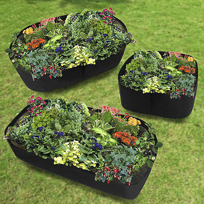 Fabric Raised Garden Bed, Durable Grow Bags Herb Flower Vegetable Planter Bed