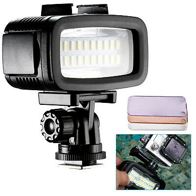 Neewer Waterproof Up to 131ft Underwater 20 LED 700LM Flash Dimmable Video Light