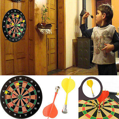 """Large 18"""" Magnetic Kids Toy Play Dart Board Dartboard with 6 Darts"""