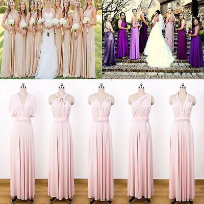 Maternity Dress Convertible Infinity Wedding Evening Gown For Pregnant Women
