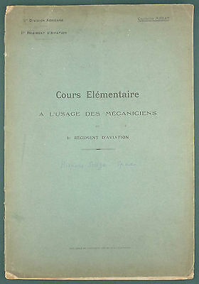 Cpt MERAT - MECANICIENS DU 1ER REG. D'AVIATION - HISPANO SUIZA SPAD - WW1 RARE