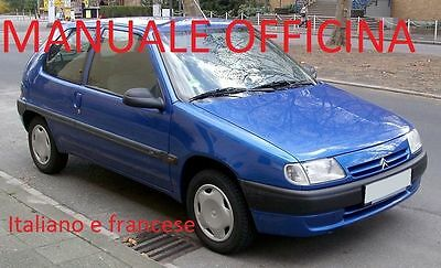 Citroen Saxo (1996/2004) Manuale OFFICINA su cd in ITALIANO e FRANCESE gpl VTS