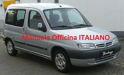 Citroen BERLINGO MK1 prima serie 1° (1996/2010) Manuale OFFICINA ITALIANO