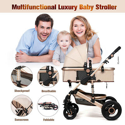 Luxury Newborn Baby Stroller Buggy Pram Pushchair Carriage Infant Travel Car