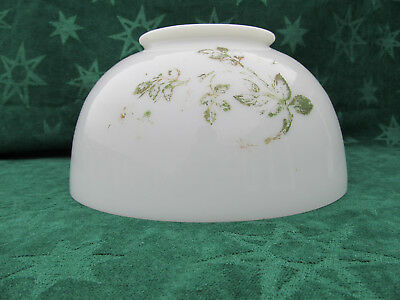 """Antique Victorian 1800's Milk Glass Shade for Hanging Oil Lamp 10"""" D 5"""" fitter"""