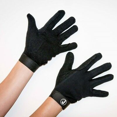 JHR The Amazon Horse Riding Gloves ALL SIZES Cotton Pimple Palm ADULTS & KIDS