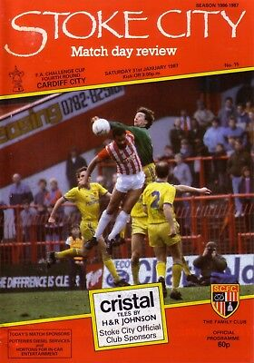STOKE v CARDIFF 1986/87 FA CUP 4TH ROUND