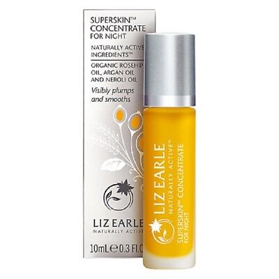 New Sealed  Liz Earle Superskin Concentrate For Night 10Ml Rollerball