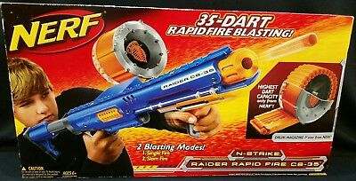 Nerf N-Strike Raider Rapid Fire CS-35 35 Dart Ammo Drum Brand New In Box Htf