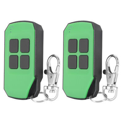 2pcs 433mhz Code Cloning Remote Control Key Fob Opener for Garage Door AH414