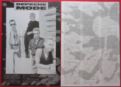 1991 DEPECHE MODE Martin Gore Dave Gahan JAPAN MAGAZINE CLIPPING N4 F9 3PAGE