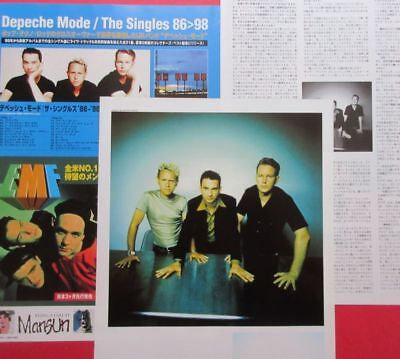 1998 DEPECHE MODE Martin Gore Dave Gahan JAPAN MAGAZINE CLIPPING N4 T15 4PAGE
