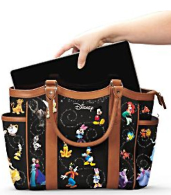 Disney Handbag With Character Art And Tinker Bell Charm by The Bradford  Exchange b627072284d29