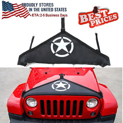 2007-2018 Jeep Wrangler JK Hood Cover Front End Bra Protector Kit Accessories JD