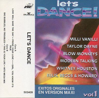 "Kylie Minogue - Whitney Houston - Modern Talking ""Lets Dance"" Spanish 2 Cassette"