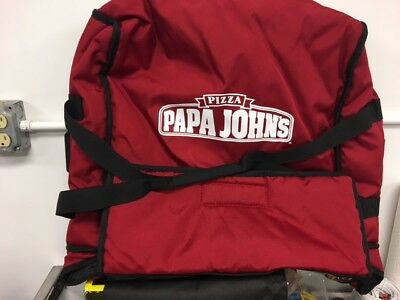 Papa John's Pizza Delivery Bag, Large RED