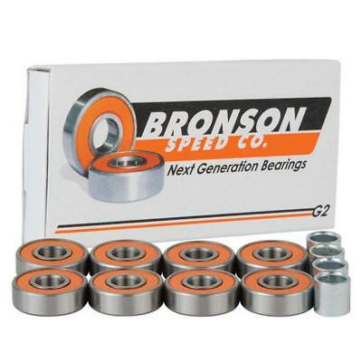 Bronson Speed Co. Bearings G2 (Pack of 8) FREE JJS STICKER AND BADGE