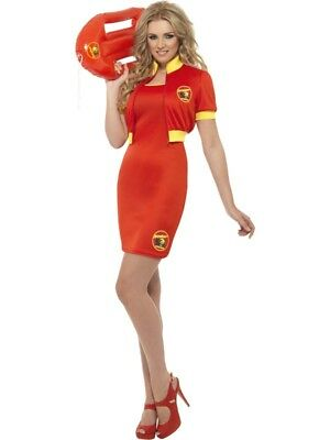 Baywatch Beach Lifeguard 80s 90s Adult Costume Womens Ladies Fancy Dress Outfit