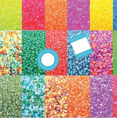 Miyuki Delica 11/0 7 grams 1200 Glass Seed Beads Luminous 18 colors U-Pick