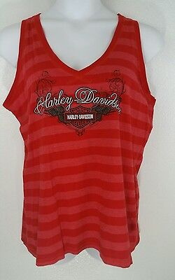 c003a0da0842a HARLEY DAVIDSON New Orleans LA Sleeveless Tank Top Shirt WOMEN S SZ 1X MADE  USA