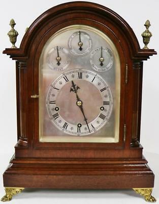 Antique W & H Mahogany 3 Train Double Chime Musical 9 Gong 8 Day Bracket Clock