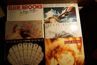 9x LP ELKIE BROOKS - Two Days Away,Shooting Star,Same,Pearls,II,No More LESEN