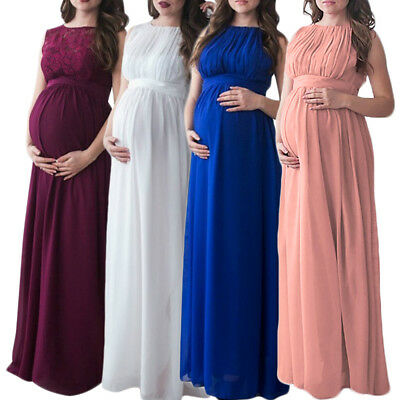 Lace Maternity Photography Props Maxi Dress Evening Gown For Wedding Photo Shoot