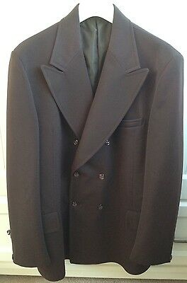 Vintage 60's ICI Crimplene Brown Wash-And-Wear Blazer Jacket Mod Retro 40-42""