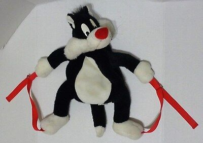Vintage Warner Bros Studio Store Sylvester Cat Backpack Plush 1995