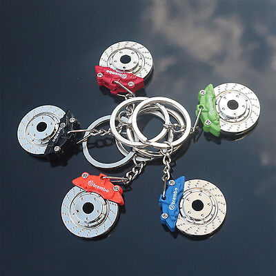 JDM Car Parts Tuning Multicolor Brake Disc Shape Caliper Keychain Keyring Gifts