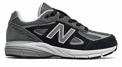 pretty nice 022bf eb9c5 New Balance Kid's 990v4 Little Kids Unisex Shoes Grey with Black Ships fast  and reliable from New Balance