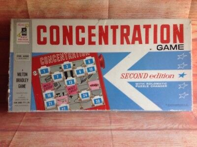 John Sands CONCENTRATION VINTAGE RETRO BOARD GAME